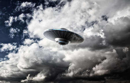 abducted: UFO in the clouds