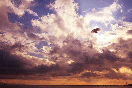 ufo: UFO in the clouds