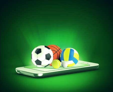 cricket game: sports balls on phone