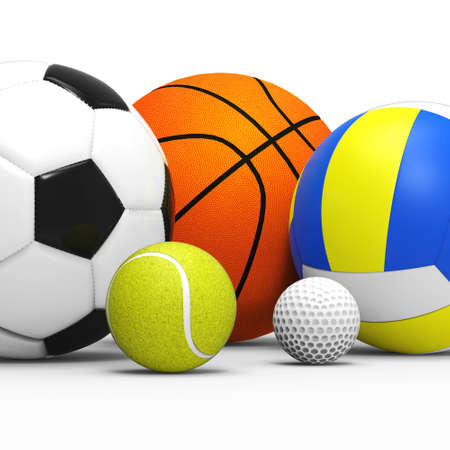 sports balls concept Stock Photo