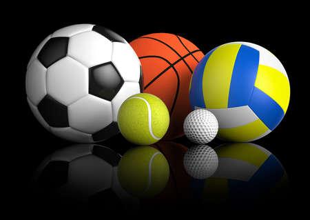 dobrý: Sportovní míče Reklamní fotografie