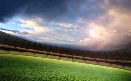 futbol soccer: Estadio y el cielo