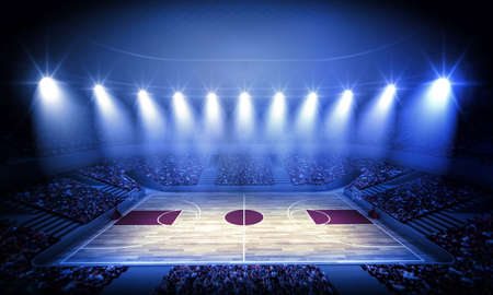 a basketball player: basketball arena