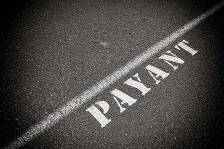 blacktop: Payant on asphalt road