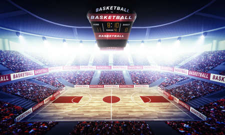 An imaginary basketball stadium