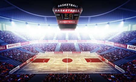 terrain de basket: Un stade de basket-ball imaginaire