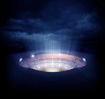 cancha de futbol: Un estadio imaginaria