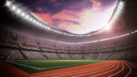 light game: An imaginary stadium Stock Photo