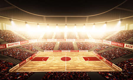 canestro basket: Un'arena di basket immaginario Archivio Fotografico