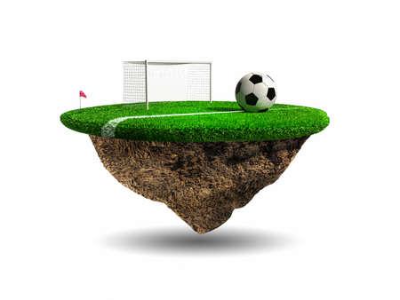 ballon foot: Football, Stade surréaliste Banque d'images