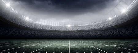 terrain foot: Le stade américain imaginaire Banque d'images