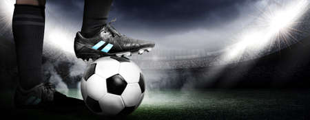 soccer ball on grass: soccer Stock Photo