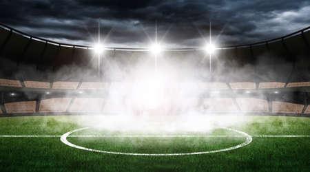 win: An imaginary stadium Stock Photo
