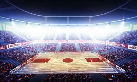 An imaginary basketball arena