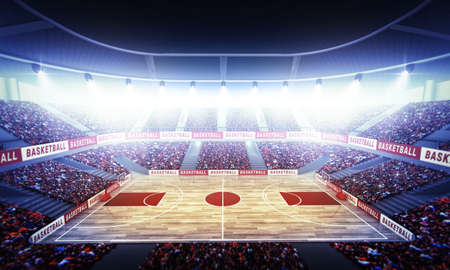 An imaginary basketball arena
