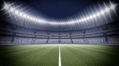 Eine imaginäre Stadion Standard-Bild - 47086761