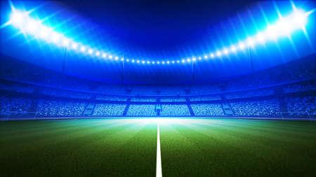 football stadium: An imaginary stadium Stock Photo