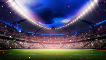futbol soccer: Un estadio imaginaria