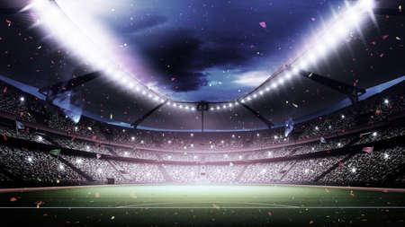Eine imaginäre Stadion Standard-Bild - 47117414