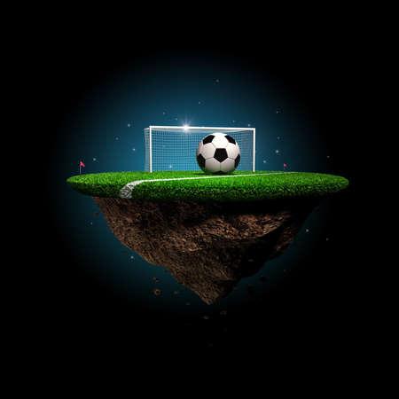 football stadium: Soccer stadium surreal