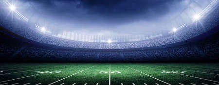 cancha de futbol: estadio americano Foto de archivo