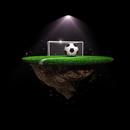 icosahedron: Soccer stadium surreal