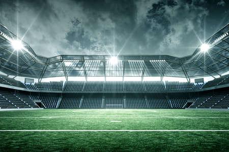 Stadion, wymyślony stadion jest modelowany i renderowany.