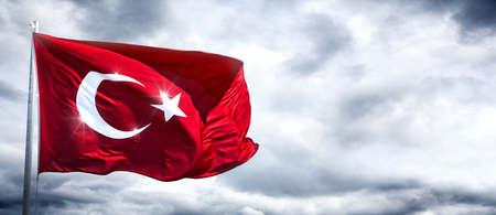 Türkische Flagge Standard-Bild - 47088631