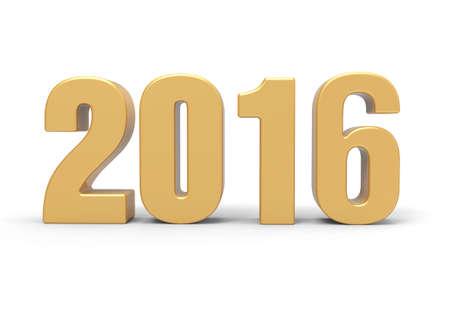 gold metal: year 2016 Stock Photo