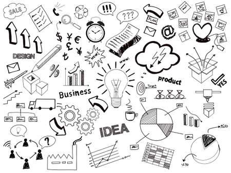 Business sketch doodles