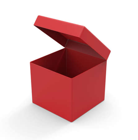 red box: Red box, square shape