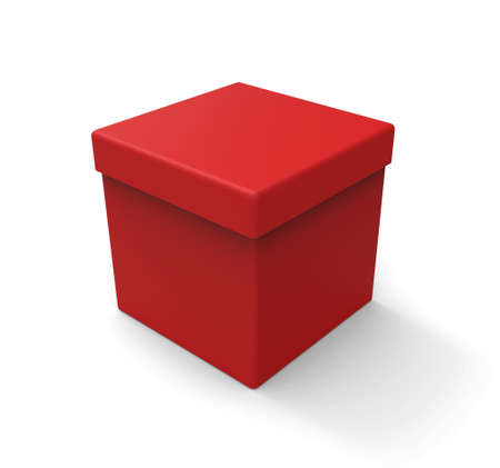 red shape: Red box, square shape
