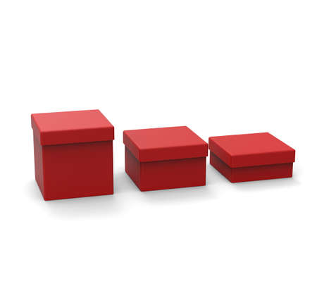 box size: Three different size red box, square shape