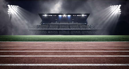 sports field: athletics stadium Stock Photo