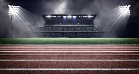 competencia: estadio de atletismo Foto de archivo