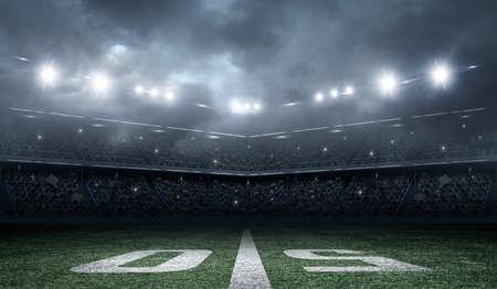Amerikanischer Fußball-Stadion Standard-Bild - 50565112