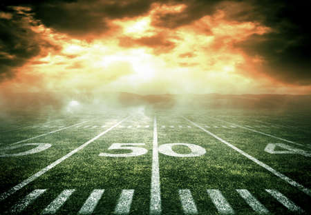 american football background: american soccer stadium Stock Photo