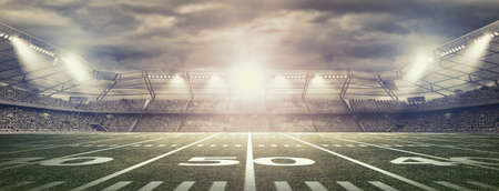 sports field: american soccer stadium Stock Photo