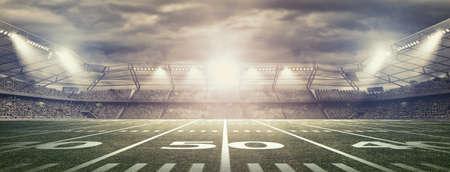 Amerikanischer Fußball-Stadion Standard-Bild - 50566094