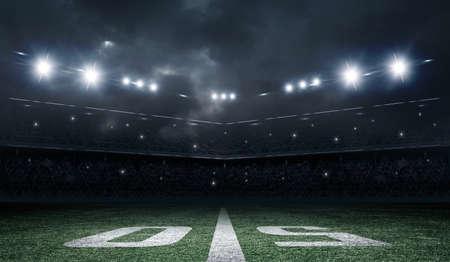 Amerikanischer Fußball-Stadion Standard-Bild - 50647039
