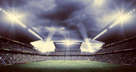 soccer background: stadium