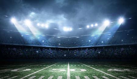 cancha de futbol: estadio de fútbol americano Foto de archivo