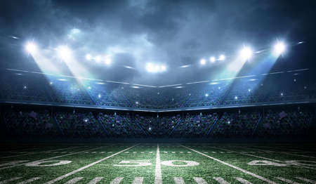 campo di calcio: stadio di calcio americano