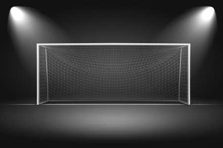 goalpost: Goalpost on black background