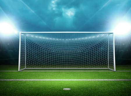 penalty: Goal Post Stock Photo
