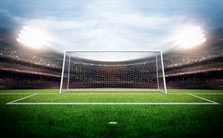 futbol soccer: Poste de la meta