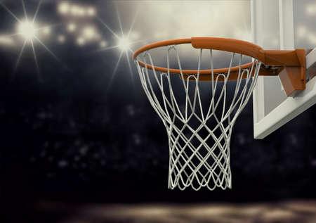 net: basketball net Stock Photo