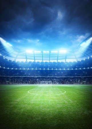 Fußball-Stadion Hintergrund Standard-Bild - 58067773
