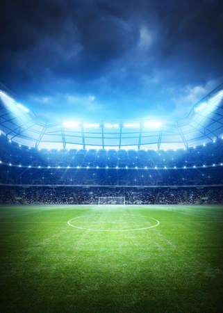 Soccer Stadium Background Archivio Fotografico