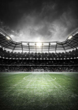 Soccer Stadium Background Standard-Bild